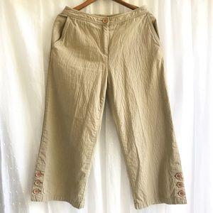 J. Jill Wide Leg Cotton Crop Pants